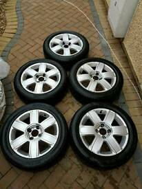 "5x 16"" Alloy Wheels With Tyres Citroen c4 2004-2010 c2 c3 c5 picasso 205/55 R16"