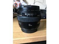 Canon 50mm f1.4 £180