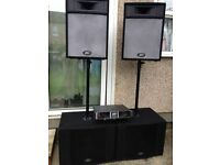 3KW PA System Peavey DJ Equipped: Power Amplifier Peavey CS 3000 + 4 Speakers (budjet bundle)