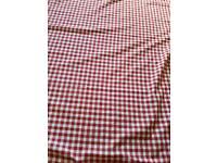 Red gingham kitchen curtains & tie backs & pelmet
