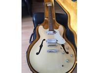 Aria TA-70 P90 **RARE** Semi-hollow arch top guitar with 60s/70s hard case £165 OVNO
