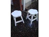 Kids White Flower Shape Stools £20 for both