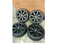 "Genuine Mini Cooper S alloys wheels & tyres 17"" / Limited edition / 4x100 / Mini one / JCW / Black"