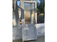 UPVC external door with lock and key good condition