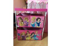 Disney princess canvas storage unit. From a smoke free home.