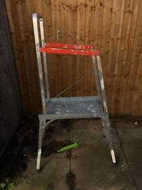 Step ladder platform