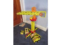 WOODEN CRANE SET from George at Asda