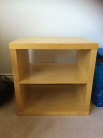 Small modern table pine colour with shelf