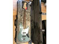 Brand new Fender American Professional Jazz Bass Guitar MN, Sonic Grey (with touring case)