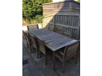 8 seater garden table with chairs