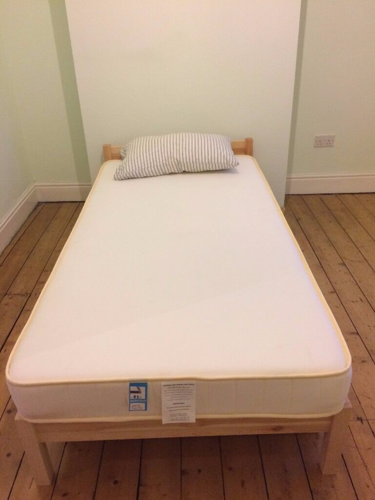 Muji Pine Single Bed, Mattress and Underbed Storage - nearly new ...