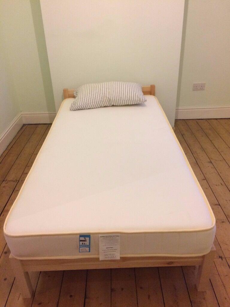 muji pine single bed mattress and underbed storage nearly new - Muji Bed Frame