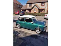 Mini racing green classic car