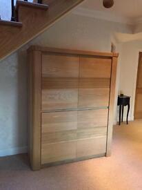 Karel Mintjens designer solid oak cabinet