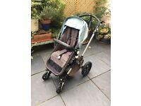Bugaboo cameleon 3, pram/stroller grey and petrol