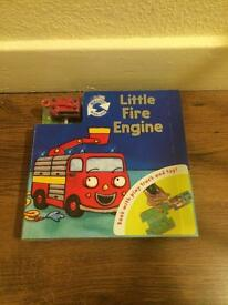 Kids fire engine book & toy - NEW