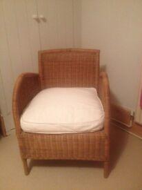Habitat wicker armchair