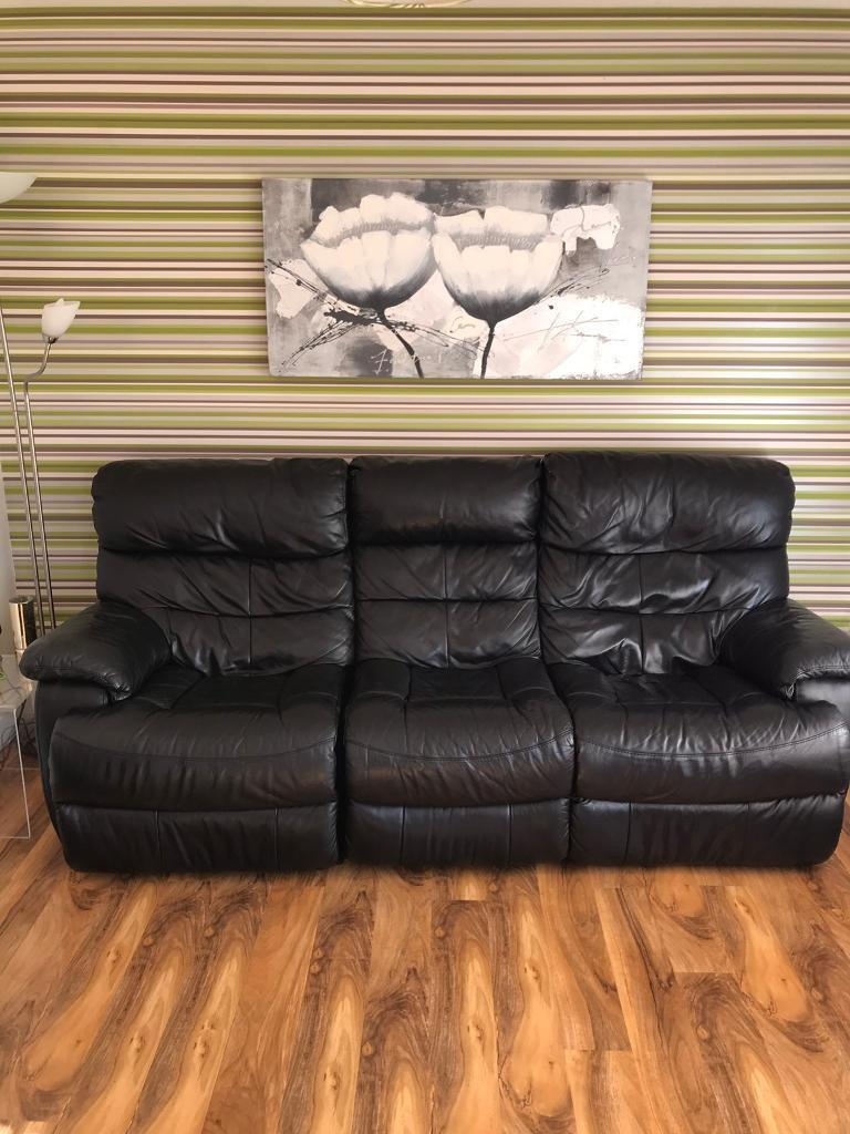 3 Seater Recliner Leather Sofas X 2 200 Each 300 Pair