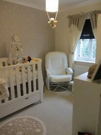 Mamas And Papas Curtains, Tie Backs, Cot Mobile, Light Shade and Rug,