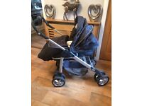 SILVER CROSS 3D Pram/ Pushchair - Grey - Complete with Accessories - RRP £450