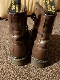 Unisex Dark Brown Dr Marten Boots size 6.5