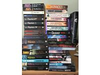 61 mixed books, mainly murder mystery detective, good condition