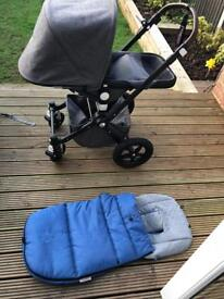 Limited edition Bugaboo chameleon 3 with footmuff and carrycot