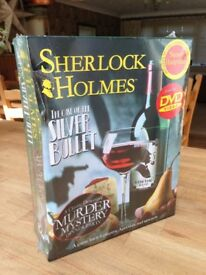 SHERLOCK HOLMES MURDER MYSTERY DINNER PARTY GAME WITH DVD BRAND NEW AND SEALED
