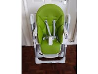 Very Good Condition Mamas & Papas Prima Pappa High Chair, Lime