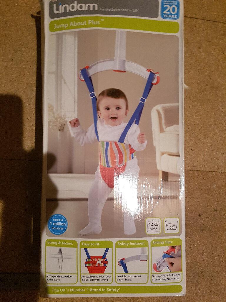 bda8811341fb Lindam Jump About Plus Bouncer Red Baby Door Boun Perfect ...