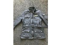 Barbour quilted country black jacket size 12