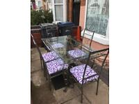 Lovely set off dining table with 5 chairs