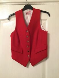 Derby House child's/XS ladies Foxley red waistcoat