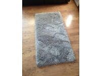 Reduced* Brand new fluffy silver rug! Medium sized""