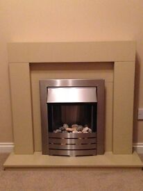 Fire Surround & Fire in excellent condition. Can deliver in Glasgow area