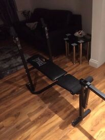 £30 Bench Press (no weights) . can fold up so wont take up too much space. easy storage