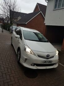 TOYOTA PRIUS PLUS=2013=13 REG 1.8 HYBRIB 7 SEATER WITH PCO BADGE LOW MILEAGE