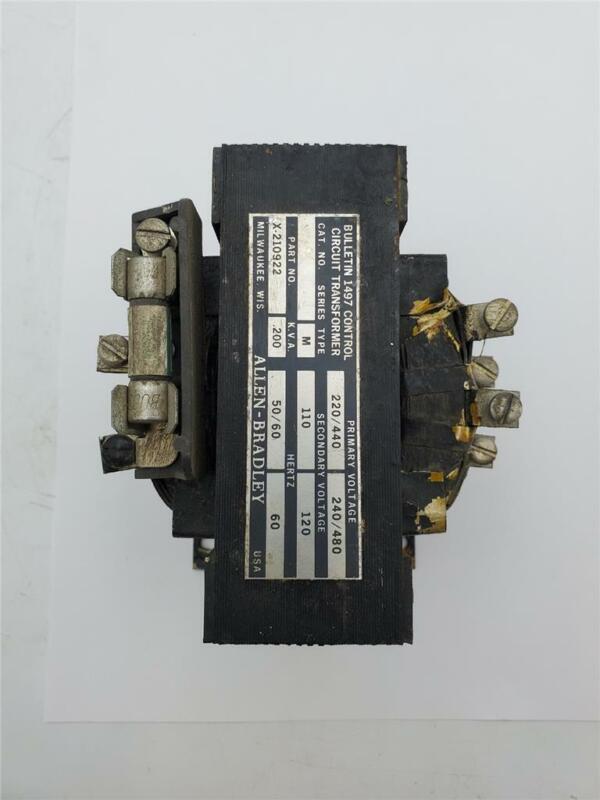 ALLEN BRADLEY 1497 CONTROL TRANSFORMER X-210922 .200KVA