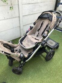 City Select Double Pram. Maxi Cosi and Accesories included