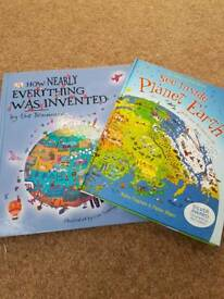 How Nearly Everything Was Invented & See Inside Planet Earth books
