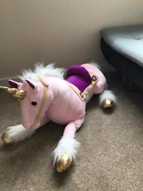 Giant sit on unicorn
