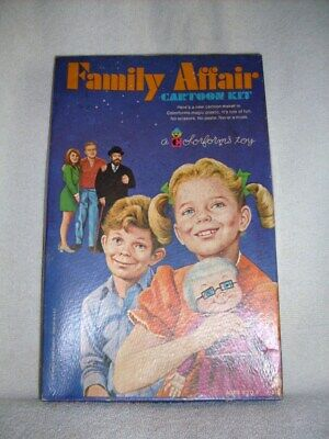 """""""FAMILY AFFAIR"""" TV SHOW 1970 CARTOON KIT COLORFORMS 100% COMPLETE WITH BOOKLET!"""