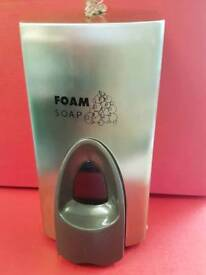 Foam soap dispensers