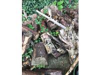 Pine logs for wood burner/open fire