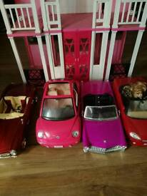 Barbie house and.4 cars