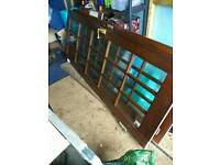 Two glazed mahogany internal doors. FREE IF COLLECTED TODAY.
