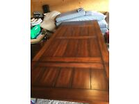 Solid wood extending dining table - absolute bargain