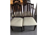 4 dining chairs in good condition