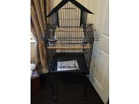 Large ornate parrot/bird cage on wheels