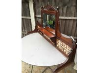 Antique wash stand top
